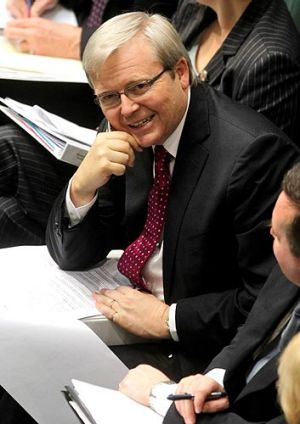 "Foreign Minister Kevin Rudd believes ""Australia can and should do better""."
