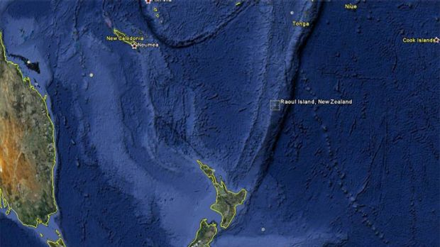 The quake's epicentre was near Raoul Island, between NZ and Tonga.