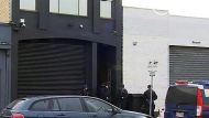 Heavily armed police outside bikies clubhouse