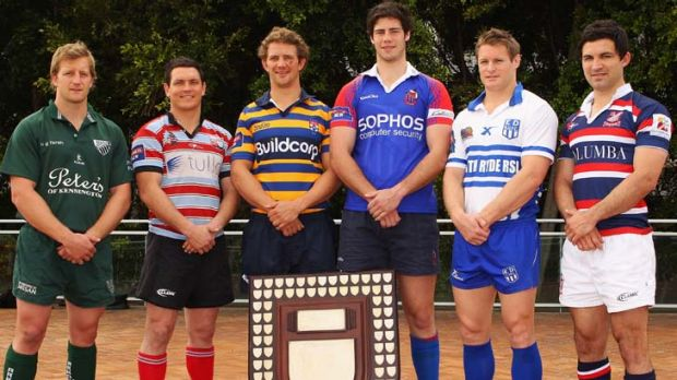 Ready for a revamp ... last year's finals captains pose with the Shute Shield.
