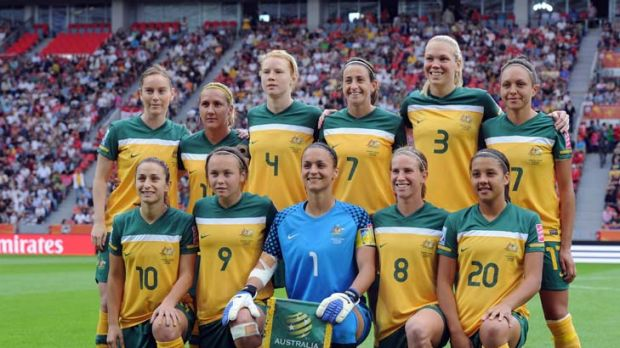 Pride of a nation ... the Matildas.