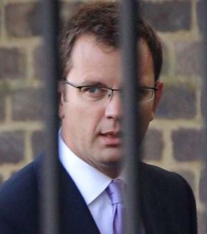 Former media adviser Andy Coulson at Downing Street before his arrest.