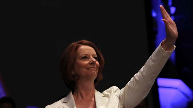 """Julia Gillard ... """"polluters will have to pay""""."""