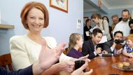 Prime Minister Julia Gillard who will explains her Carbon Tax to the Cochrane family of Emu Plains NSW.Photography ...