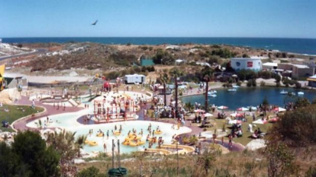 Former glory ... Atlantis marine park as it was in the 1980s.