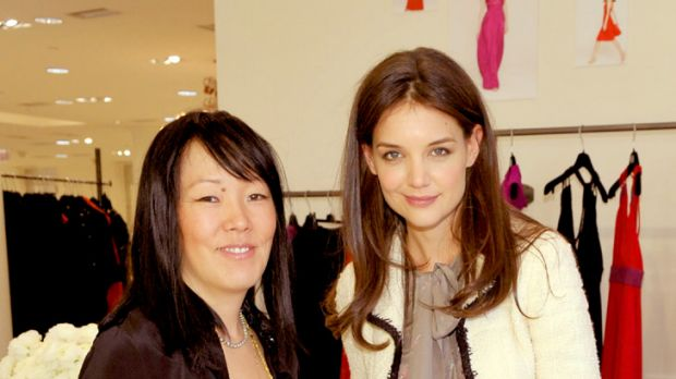 Partners in design ... Jeanne Yang and Katie Holmes.