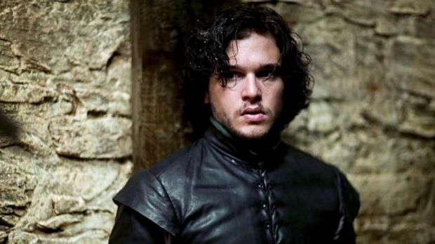 Kit Harington plays the idealistic Jon Snow, illegitimate son of Lord Eddard ''Ned'' Stark (Sean Bean) in <i>Game of ...