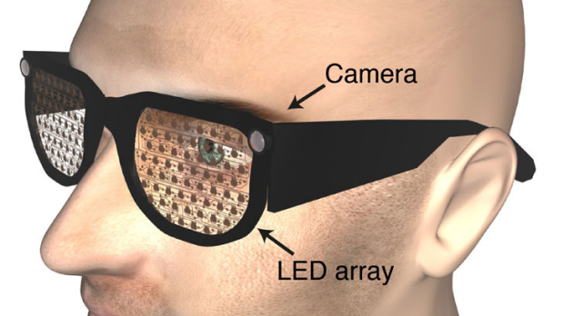 Bionic glasses ... LEDs inside the lenses light up in a pattern, alerting the wearer to an obstacle or object ahead.