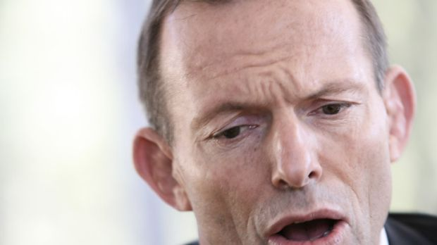 Tony Abbott allowed Ms Kasidid to ask her question before she was hounded out of the meeting.