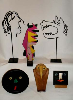 A collection of Brenda Humble's sculptures.