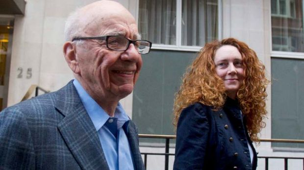 Rupert Murdoch with Rebekah Brooks earlier this week.