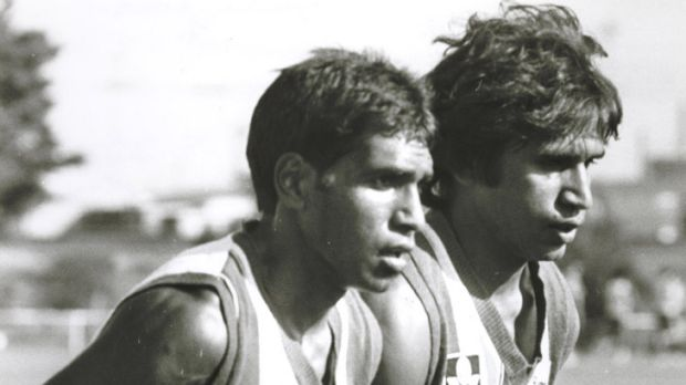 Regularly abused ... Jimmy Krakouer and brother Phil.