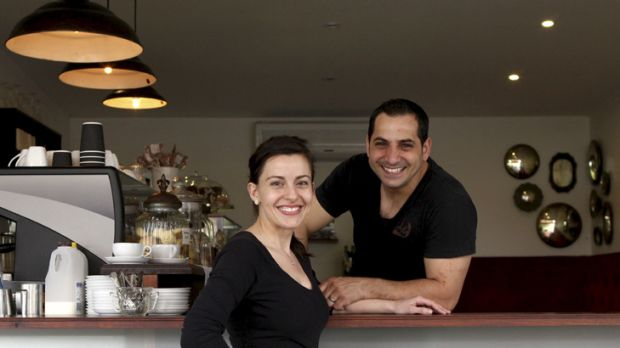 Crash course ... Veronica and Shadi Abraham love working in a ''real kitchen''.