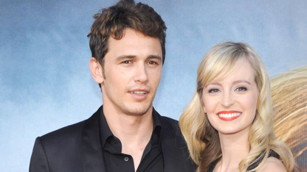 Over ... James Franco with former girlfriend Ahna O'Reilly.