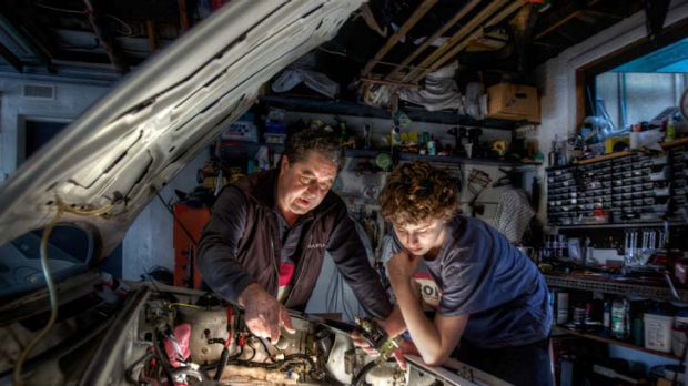 Father-and-son team Mario Giannattilio and his 12 year old son Michael bought a 1990 Ford Capri late last year to ...