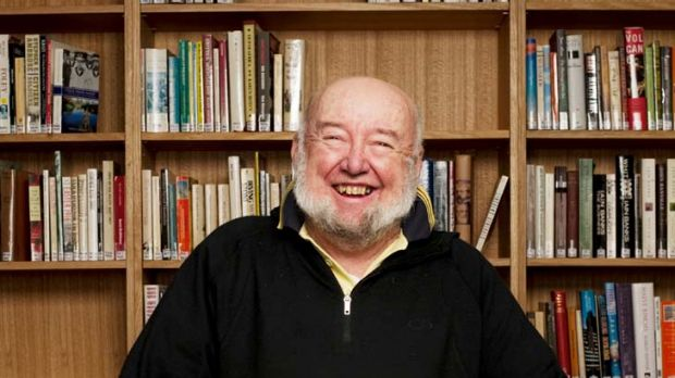 Well-read ... Tom Keneally surrounds himself with books.