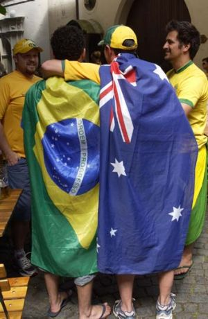 Strengthening ties ... football could be used to bring Australia and Brazil closer together.