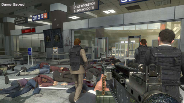 The controversial mission from Modern Warfare 2 in which players slaughter civilians in an airport.