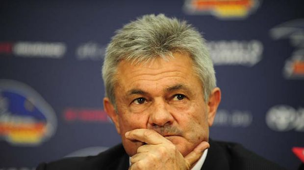 Neil Craig announces his resignation at a media conferene yesterday.