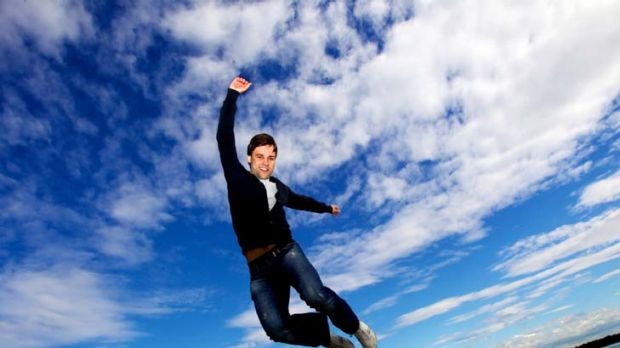 Jumping for joy ... former Sydney boy Alexander Campbell will start as a soloist for Britain's Royal Ballet. His first ...
