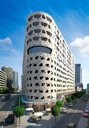 The Exo building design.