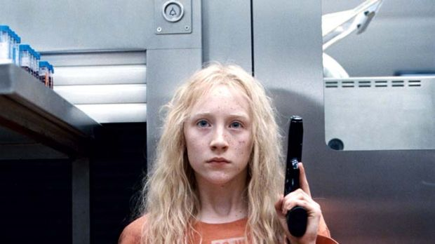 Don't treat me like a kid: Saoirse Ronan puts in a remarkable performance as the titular assassin in <i>Hanna</i>.