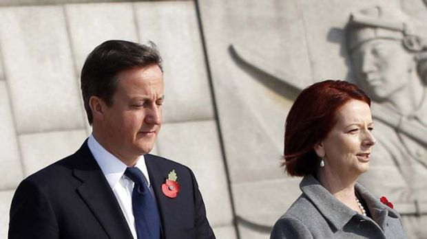 Distraction for Coalition ... David Cameron and Julia Gillard are in agreement.