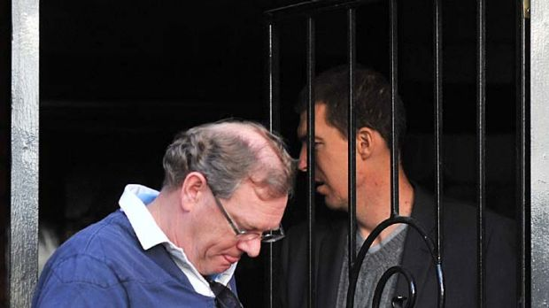 Don McLardy and Jim Stynes yesterday.