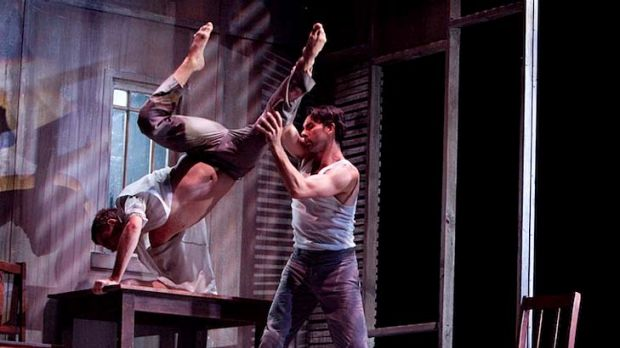 Performers go through a tricky routine in a scene from Where the Heart Is.