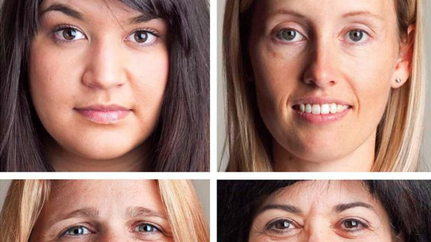Ageing gracefully ... clockwise from top left: Whitney Moothoo, Vanessa Clayton, Gilda Fahd, Debbie Oates.