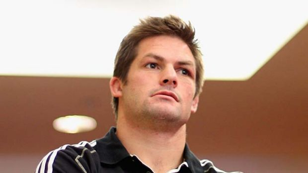 Diplomatic ... All Blacks captain Richie McCaw speaks to the media in Auckland yesterday.