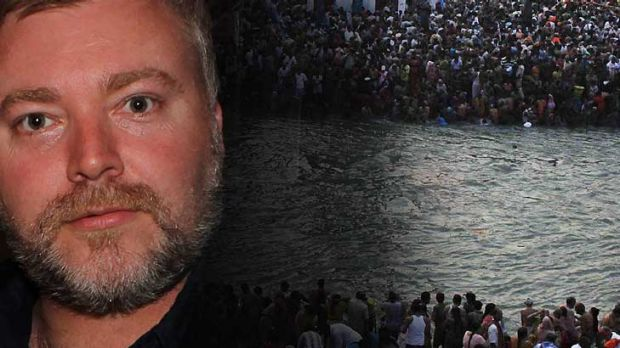 Kyle Sandilands ... splashing out on pollution in the Ganges and upsetting Hindus.