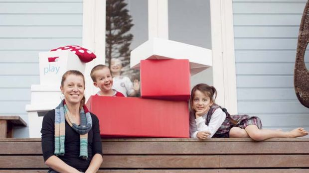 Online convert … Fiona Chandler and children Oliver, 3, Owen, 6, and Holly, 7. The family has enjoyed the proceeds ...