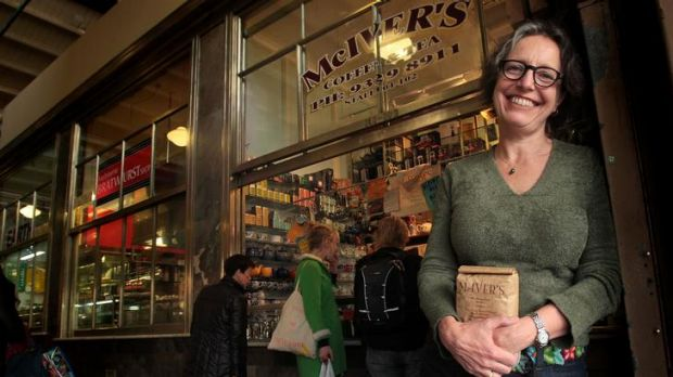 Cathy Underhill, at her Victoria Market store, is having great success selling on the web.