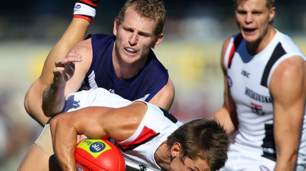 St Kilda was first to the ball in its comprehensive thrashing of Fremantle at Patersons Stadium in round 10.