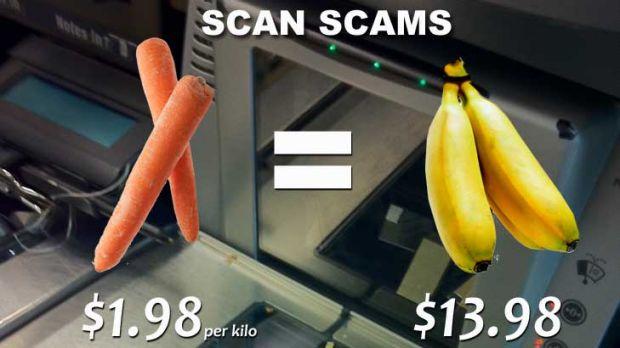 Bad apples ... scanning carrots as bananas and saving $12 a kilogram.