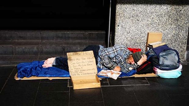 The word homeless usually evokes images like the one here - a man sleeping rough. But we must acknowledge the diversity ...
