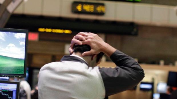 Trading places ... French and US banks were hit by global sharemarket volatility overnight.