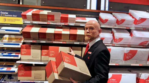Package power ... the GPO postal manager, Peter Ferguson, at Martin Place. Online purchases are increasing the number of ...