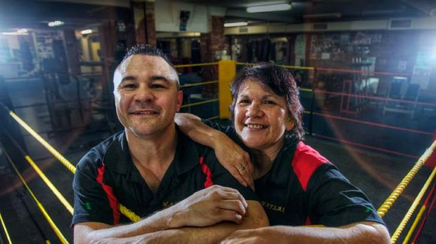 Gloves off: boxing great Robbie Peden and activist and community worker Glenda Thorpe.