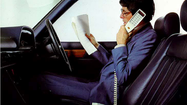 Telstra's first mobile phone launched when it was known as Telecom 30 years ago.