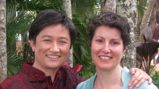''I am a public figure and these sorts of things come with the territory. But she's not'' ... Penny Wong with her ...