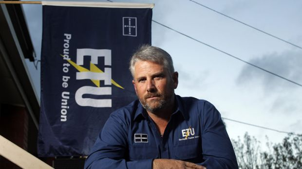 Electrical Trades Union's controversial secretary Dean Mighell.