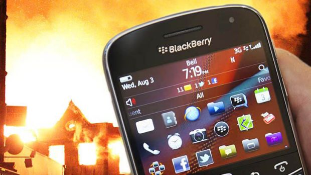 The BlackBerry has been linked to the London riots. <i>Illustration: smh.com.au and agencies</i>