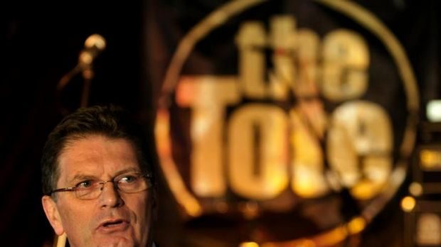 Victorian Premier Ted Baillieu at the Tote on Tuesday.
