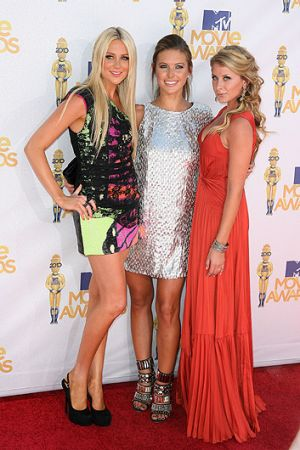 Hills stalwarts Stephanie Pratt (L), Audrina Patridge (C) and Lauren Bosworth.