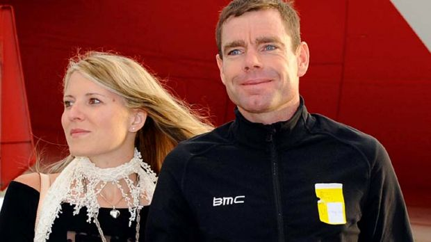 Cadel Evans and his wife Chiara arrive  back in Melbourne this morning.