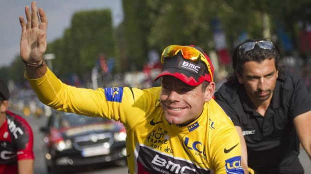 An old friend ... Cadel Evans visited the wife and children of his former trainer Aldo Sassi, who passed away last December.