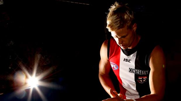 Tough times: Nick Riewoldt's numbers are down, from goals to marks, and he's had an injury that's slowed him. Can he ...