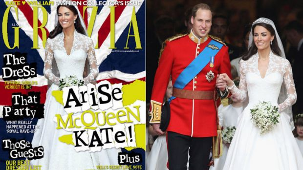 """Digital diet ... Grazia admits to """"inadvertently"""" slimming Kate Middleton's waist."""